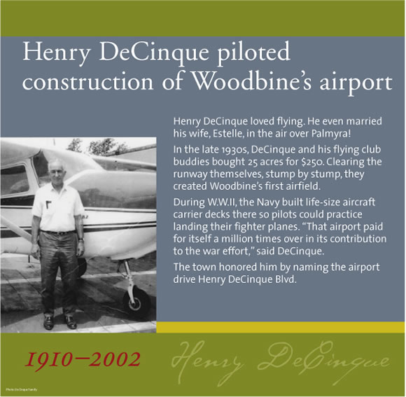 Exhibits - Sam Azeez Museum of Woodbine Heritage - Woodbine Success Stories - Henry DeCinque