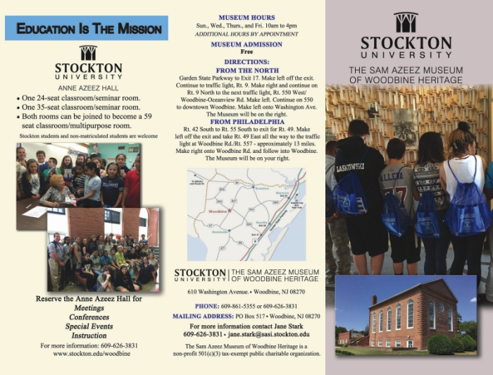The Sam Azeez Museum of Woodbine Heritage Brochure