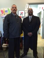 Anne Azeez Security, (Right) Doug Watkins, (Left) Manual Gonzales