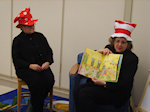 Jane and Maggie participating in Read Across America