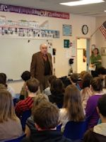 Margaret Mace Elementary School in North Wildwood NJ attend a presentation by child Holocaust Survivor Fred Spiegel