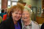 Holocaust Survivor Luncheon at Anne Azeez Hall Director Jane Stark and Berta Borowick