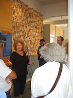 Jane Stark welcomed visitors to the Museum from the 29th International Conference on Jewish Genealogy