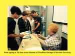 Book signing at The Sam Azeez Museum of Woodbine Heritage of Stockton University
