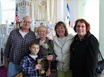 Mrs. Marjorie Rosenfeld Recipient of Lifetime Achievement Award and her Family