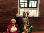 Holocaust Survivors Rosalie Simon and her sister Charlotte with Alder Ave Middle School Students