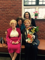 Rosalie Simon with her sister Charlotte, Executive Director Jane Stark and Program Director Oranit Caplan