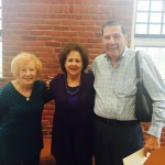 Holocaust Survivor Ruth Kessler and her husband Loius with Executive Director Jane Stark