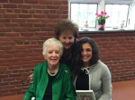 Holocaust Survivor Betty Grebenschikoff with Executive Director Jane Stark and Isabella a Alder Ave Middle School 8th grade student